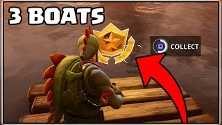 SEARCH BETWEEN 3 BOATS | FORTNITE BATTLE ROYALE | BATTLE PASS CHALLENGES!