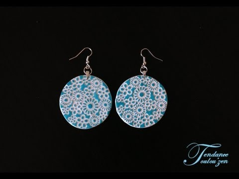 Tuto Boucles d'oreilles fimo facile debutant / Polymer clay earrings tutorial for beginners ...