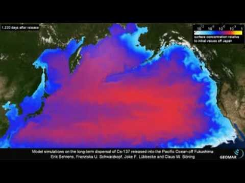 Ten Years of Fukushima Radiation Crossing the Pacific Ocean