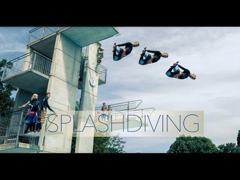 Awesome Splashdiving - Parkbad Linz - 4K