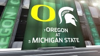Oregon at Michigan State - Football Highlights