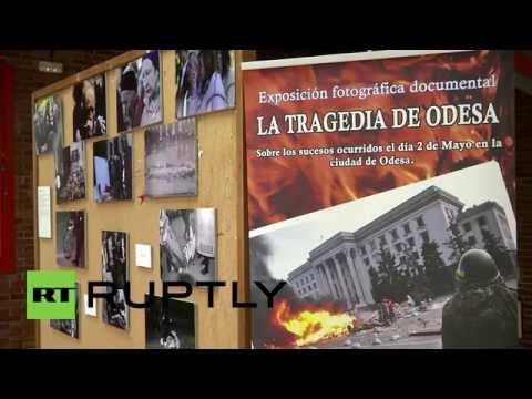 Spain: Madrid students remember Odessa massacre