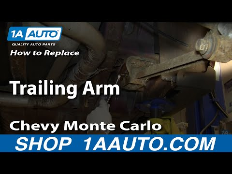 How To Install Replace Rear Lower Trailing Control Arm 1995-07 Chevy Monte Carlo
