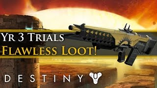 Destiny - My Year 3 Trials of Osiris Flawless Loot! New Lighthouse Adept Primaries! Trials Sparrow!