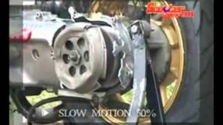 Взрыв сцепления на скутере