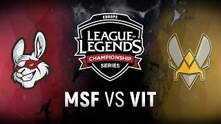 MSF vs. VIT - Week 9 Day 1 | EU LCS Summer Split | Misfits Gaming vs. Team Vitality (2018)
