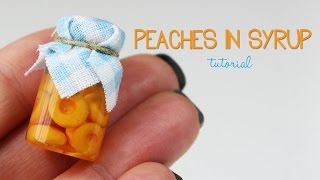 polymer clay Peaches In Syrup TUTORIAL | polymer clay food
