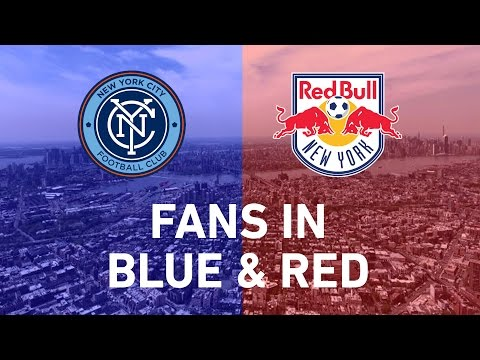New York Derby: Fans in Blue and Red