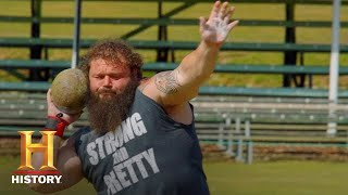 Robert Oberst's RECORD BREAKING Shot Put Throw | The Strongest Man in History | History