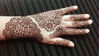 Eid Henna Design with Flowers - Easy Simple Mehendi Tattoo - Eid Arabic Mehndi