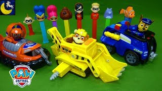 NEW Paw Patrol Transforming Vehicles LOTS of Toys Wiggly Worm Brings Wrong Toys Pez Candy Disney Toy