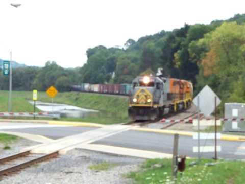 Buffalo & Pittsburgh Railroad Brockway, PA Main Street Crossing September 2009