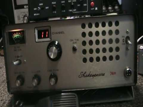 Shakespeare 740 tube type 40 channel AM CB radio