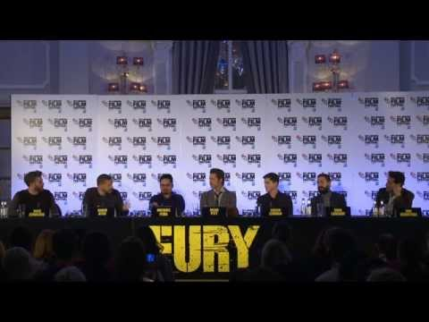 Fury: London Press Conference Part1 - Brad Pitt, Logan Lerman, Jon Bernthal
