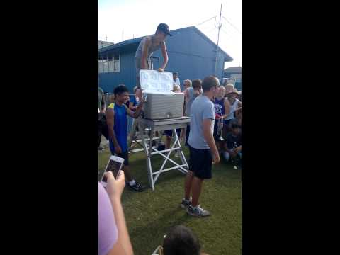 DeLand High School Band Director Does The ALS Ice Bucket Challenge