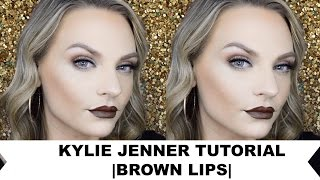 KYLIE JENNER TUTORIAL| BROWN LIPS| | COLLAB MADISON89MILLER|