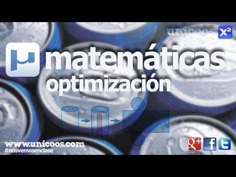 Optimizacion 02 2ºBACHI unicoos matematicas derivacion minimizar maximizar optimizar