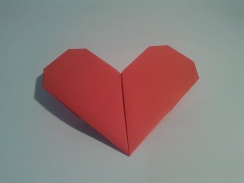 How to make an easy origami heart (Valentine