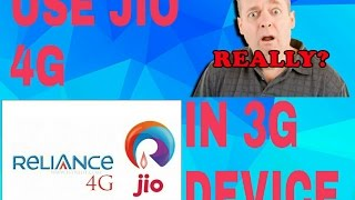 Use jio 4g sim in 3g phone 100% working