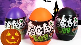 Halloween Surprise Eggs Toy Candy For Kids | Trick or Treat, Spooky Halloween Pumpkin, Spider Web