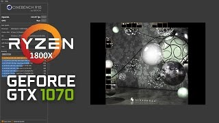 Cinebench R15 Ryzen 7 1800x 4GHz + GTX 1070