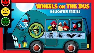 Wheels On The Bus Nursery Rhyme (Halloween Song 2015)