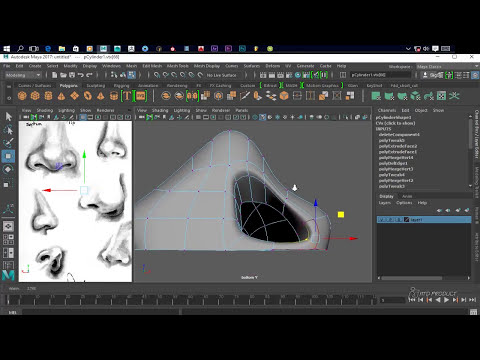 How to Modeling Nose in Maya 2017