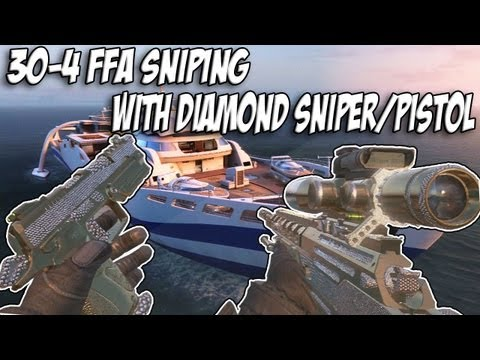 Black Ops 2: Sniping in FFA with Non-Lethal Killstreaks (Diamond Ballista and Diamond B23R Gameplay)