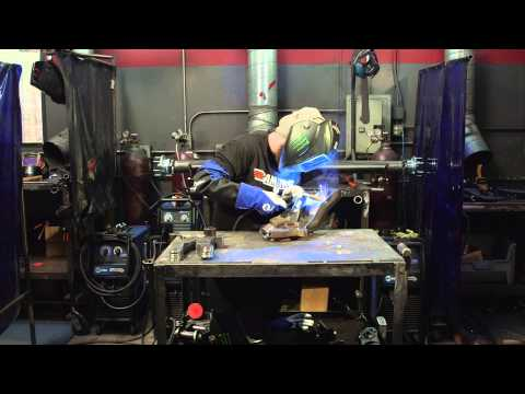 Welding Ford Raptor Spindle Using a Millermatic 212 and Dynasty 350