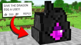 We Updated the Ender Dragon Egg in Minecraft 1.14 (Crafting Recipes Comments #8)
