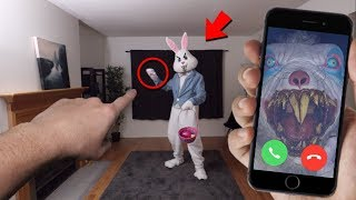 CALLING EASTER BUNNY ON FACETIME AT 3 AM ON EASTER DAY!! *DO NOT TRY THIS*