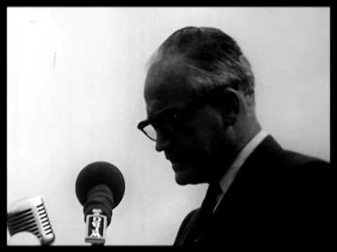 Barry Goldwater campaigns for the Presidency 1964