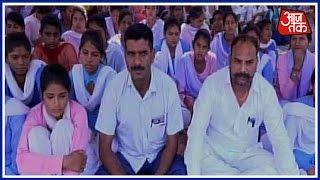 Over 100 Girls Protest In Haryana Demanding School Upgradation, Many Faint