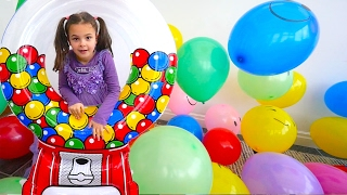 Learn Colors with Balloons and Bubble Machine for Kids, Children, Toddlers and Babies