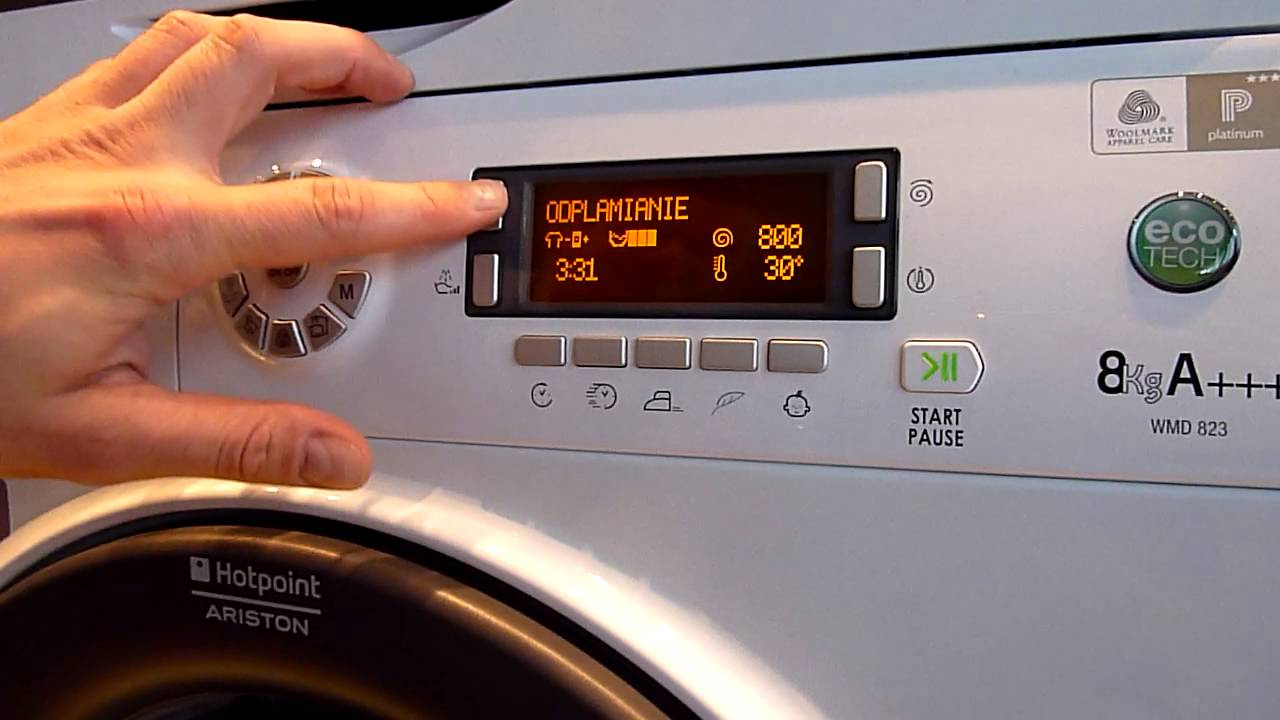 Как работает аристон стиралка ремонт подшипника видео