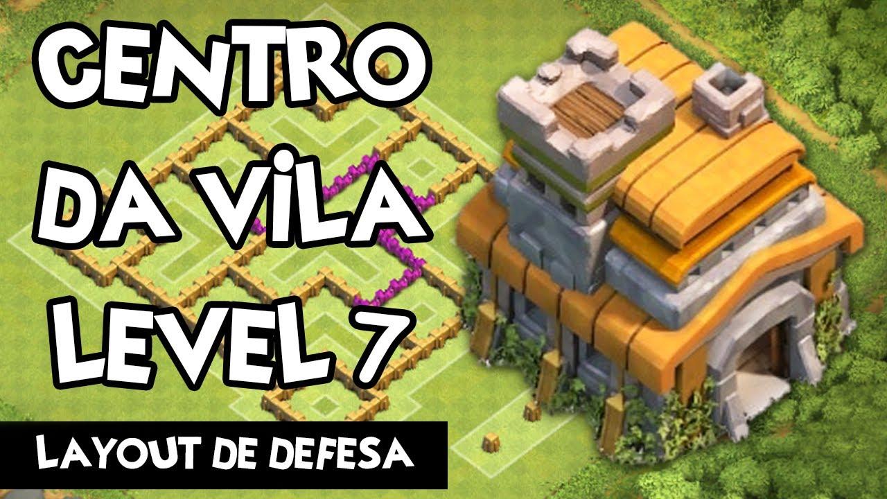 CLASH OF CLANS | Centro da Vila 7 - Layout | Town Hall