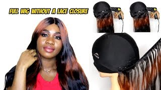 HOW TO MAKE A WIG WITHOUT A FRONTAL (Start To Finish) ft 100% Virgin HUMAN HAIR   Hot Glue Method
