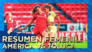 Resumen y goles Toluca 1-2 América FemenilApertura 2019Liga MX