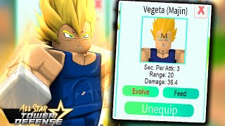 ⭐NEW 5 Star Majin Vegeta in All Star Tower Defense