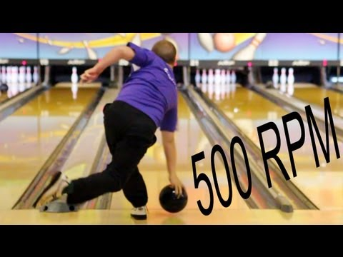 Super Slow Motion Bowling Release of Payton Giambrone (High Rev Tweener/Cranker)