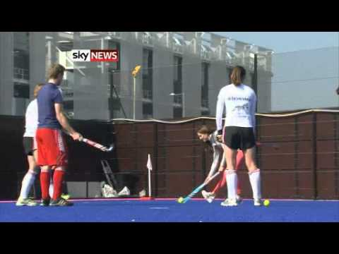 Kate, Duchess Of Cambridge, Plays Hockey With Olympic Team