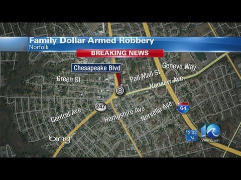 WAVY NEWS 10 examines Family Dollar robbery