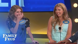 Andrea throws her sisters UNDER THE BUS!!!   Family Feud