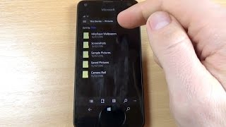 Microsoft Lumia 550 - How to Copy/Move Transfer your Files Photos Videos Folders to SD Memory Card