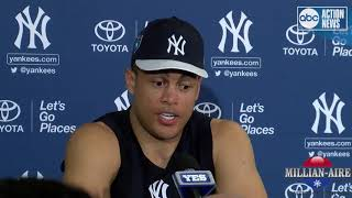 Giancarlo Stanton after first full day of workouts | Spring Training 2018