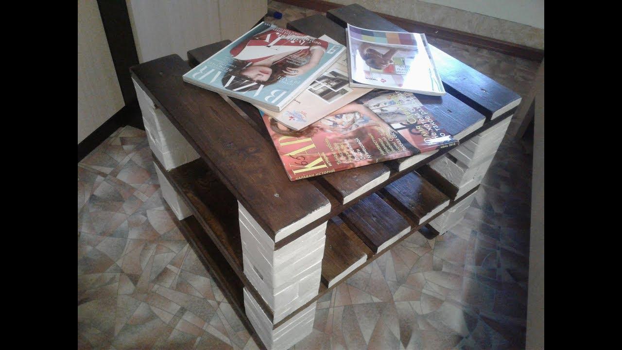 Журнальный столик своими руками ютуб 61