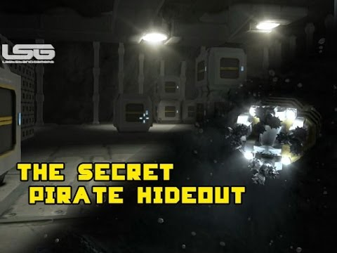 Space Engineers - The Secret Pirate Hideout Hidden Inside An Asteroid Part 17