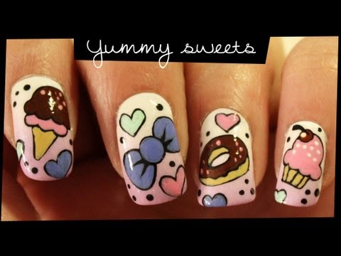 Yummy Sweets nail art Music Videos