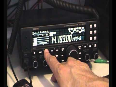The Yaesu FT-450D first use.