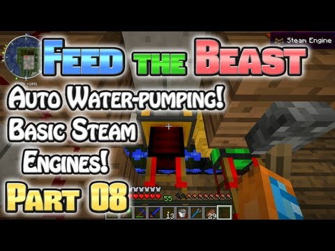 Minecraft FTB Hermitcraft Part 08: Basic Steam Engines!